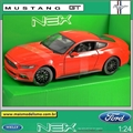 2015 - Ford Mustang GT Vermelho - Welly - 1/24