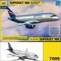 Civil Airliner Sukhoi Superjet 100 Aeroflot - Zvezda - 1/144