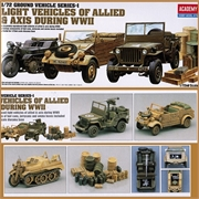 Light Vehicles SET WWII (JEEP) - Academy - 1/72