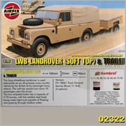 LWB LANDROVER SOFT TOP E TRAILER - Airfix - 1/76