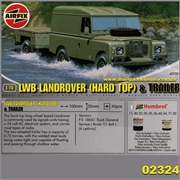 LWB LANDROVER HARD TOP E TRAILER - Airfix - 1/76