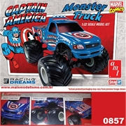 Snapit 1/32 - CAPTAIN AMERICA Monster Truck - AMT