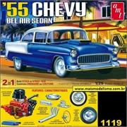 1955 - Chevy Bel Air Sedan - AMT - 1/25