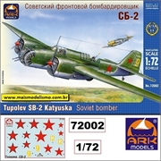 Tupolev SB-2 Russian Medium Bomber - Ark Models - 1/72