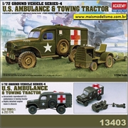 U.S. Ambulance and Tow Truck - SET 4 - Academy - 1/72