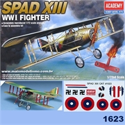 SPAD XIII WW I Fighter - Academy - 1/72