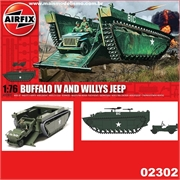 Buffalo IV e Willys Jeep - Airfix - 1/76