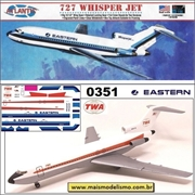 Boeing 727 Whisper Jet Airliner Eastern / TWA - Atlantis - 1/96