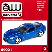 2012 - Chevy CORVETTE Z06 Azul - Auto World - 1/64