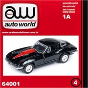1967 - Chevy CORVETTE 427 Preto - Auto World - 1/64