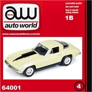1967 - Chevy CORVETTE 427 Amarelo - Auto World - 1/64