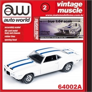 1969 - Pontiac Firebird Trans Am Branco - Auto World - 1/64