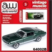1967 - Ford MUSTANG GT Verde - Auto World - 1/64