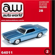 1970 - Mercury COUGAR Azul - Auto World - 1/64