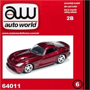 2014 - Dodge VIPER SRT Vinho - Auto World - 1/64