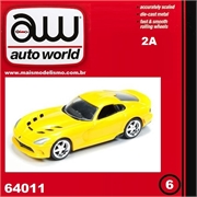 2014 - Dodge VIPER SRT Amarelo - Auto World - 1/64