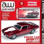 1969 - Pontiac FIREBIRD Ultra RED CHASE CAR - Auto World - 1/64