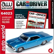 1966 - Chevy Chevelle SS 396 Azul - Auto World - 1/64