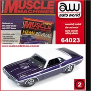 1970 - Dodge CHALLENGER R/T Roxo - Auto World - 1/64