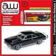 1971 - Dodge Dart Swinger Preto - Auto World - 1/64