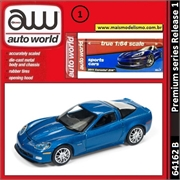 2011 - Chevrolet Corvette Z06 Azul - Auto World - 1/64