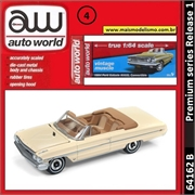 1964 - Ford Galaxie 500XL Conversível Creme - Auto World - 1/64