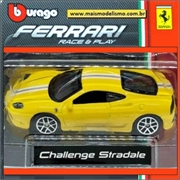 Ferrari Challenge Stradale Amarela - Race and Play Bburago