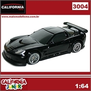 CJ64 - CHEVROLET CORVETTE C6-R Preto - California Junior - 1/64