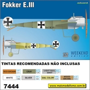Fokker E.III - Weekend Edition Eduard - 1/72