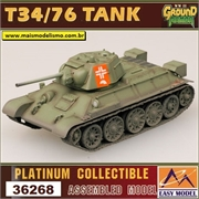 EMT - T34/76 Tank Model 1943 (Germany Army) - Easy Model - 1/72