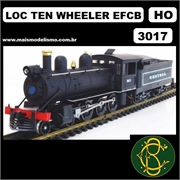 3017 - Locomotiva TEN WHELLER EFCB - Central do Brasil - Frateschi (HO)