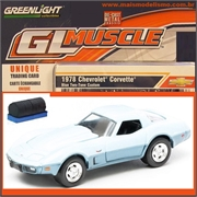 GLMUSCLE  6 - 1978 CHEVROLET CORVETTE CUSTOM - Greenlight - 1/64