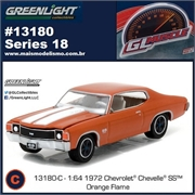 GLMUSCLE 18 - 1972 Chevrolet Chevelle SS Laranja - Greenlight - 1/64