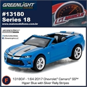 GLMUSCLE 18 - 2017 Chevrolet Camaro SS Azul - Greenlight - 1/64