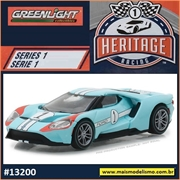2017 - Ford GT Azul n.1 - Greenlight - 1/64