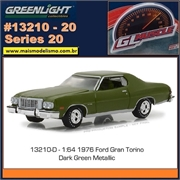 GLMUSCLE 20 - 1976 Ford Gran Torino Verde - Greenlight - 1/64