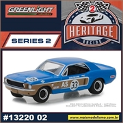 1968 - Ford Mustang Azul n.33 - Greenlight - 1/64