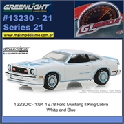 GLMUSCLE 21 - 1978 Ford Mustang II King Cobra - Greenlight - 1/64
