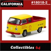 C64 - 1976 VW Kombi Pickup C/Dupla SHELL OIL - 1/64
