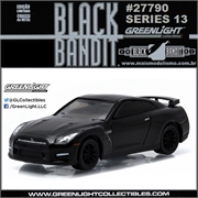 BLACK BANDIT 13 - 2015 Nissan GT-R (R35) - Greenlight - 1/64