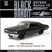BLACK BANDIT 15 - 1970 Chevrolet Chevelle SS - Greenlight - 1/64