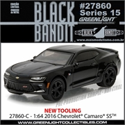 BLACK BANDIT 15 - 2016 Chevrolet Camaro SS - Greenlight - 1/64