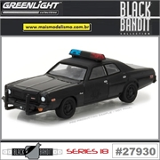 BLACK BANDIT 18 - 1976 Dodge Coronet Police - Greenlight - 1/64