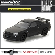 BLACK BANDIT 18 - 2000 Nissan Skyline GT-R (R34) - Greenlight - 1/64