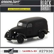 BLACK BANDIT 18 - Chevrolet Panel Truck - Greenlight - 1/64