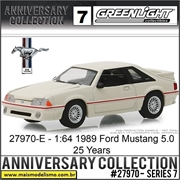 1989 - Ford Mustang 5.0 25 Years Edition - Greenlight - 1/64