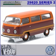 1978 Volkswagen KOMBI Type 2 Marrom - Greenlight V-DUB - 1/64