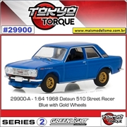 1968 - Datsun 510 Azul - Greenlight - 1/64