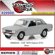 1970 - Datsun 510 Prata - Greenlight - 1/64