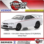 2001 - Nissan Skyline GT-R (BNR34) Branco - Greenlight - 1/64